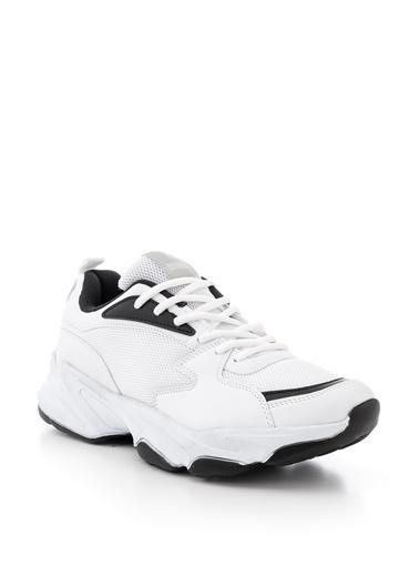 Tonny Black Beyaz Siyah Unısex Spor Ayakkabı Zyp Beyaz